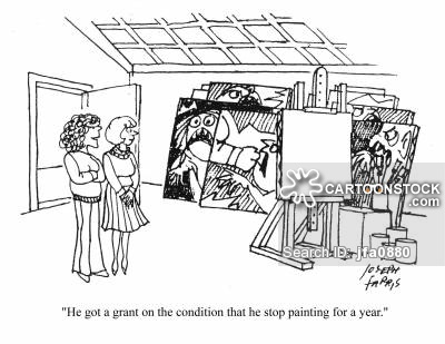 'He got a grant on the condition that he stop painting for a year.'